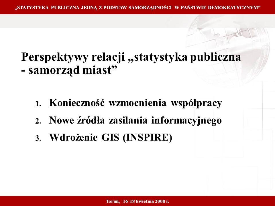 Proprietary and Confidential 21 Perspektywy relacji statystyka publiczna - samorząd miast 1.