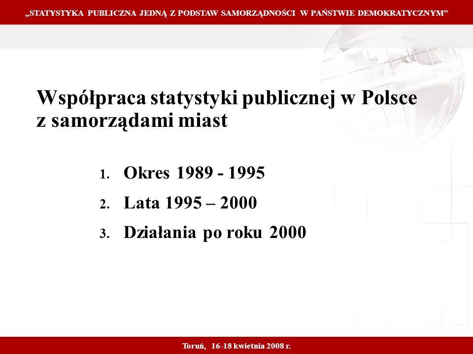 Proprietary and Confidential 3 Współpraca statystyki publicznej w Polsce z samorządami miast 1.