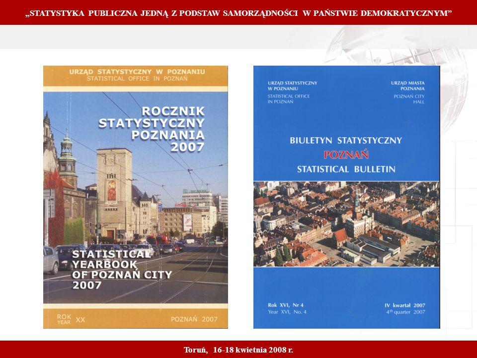 Proprietary and Confidential 6 STATYSTYKA PUBLICZNA JEDNĄ Z PODSTAW SAMORZĄDNOŚCI W PAŃSTWIE DEMOKRATYCZNYM Toruń, 16-18 kwietnia 2008 r.