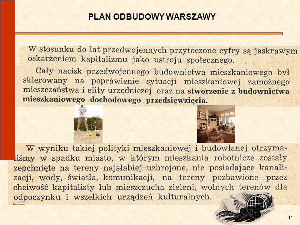 PLAN ODBUDOWY WARSZAWY 11