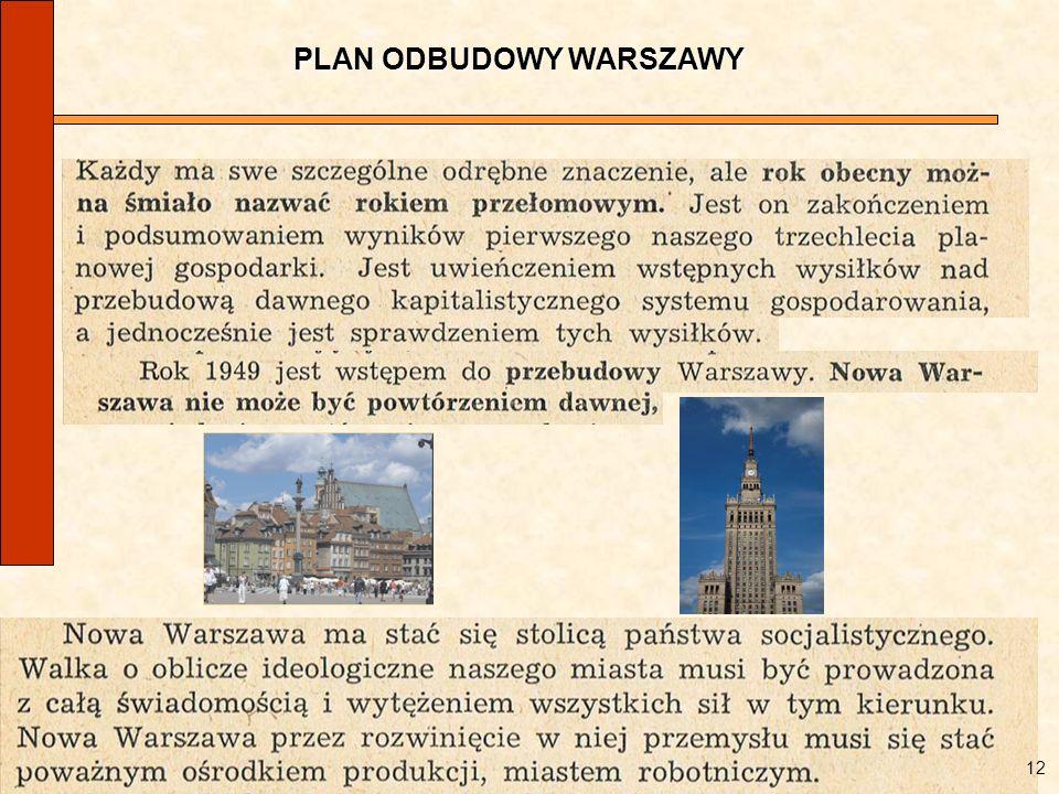 PLAN ODBUDOWY WARSZAWY 12