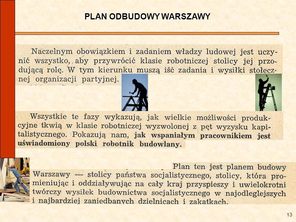 PLAN ODBUDOWY WARSZAWY 13