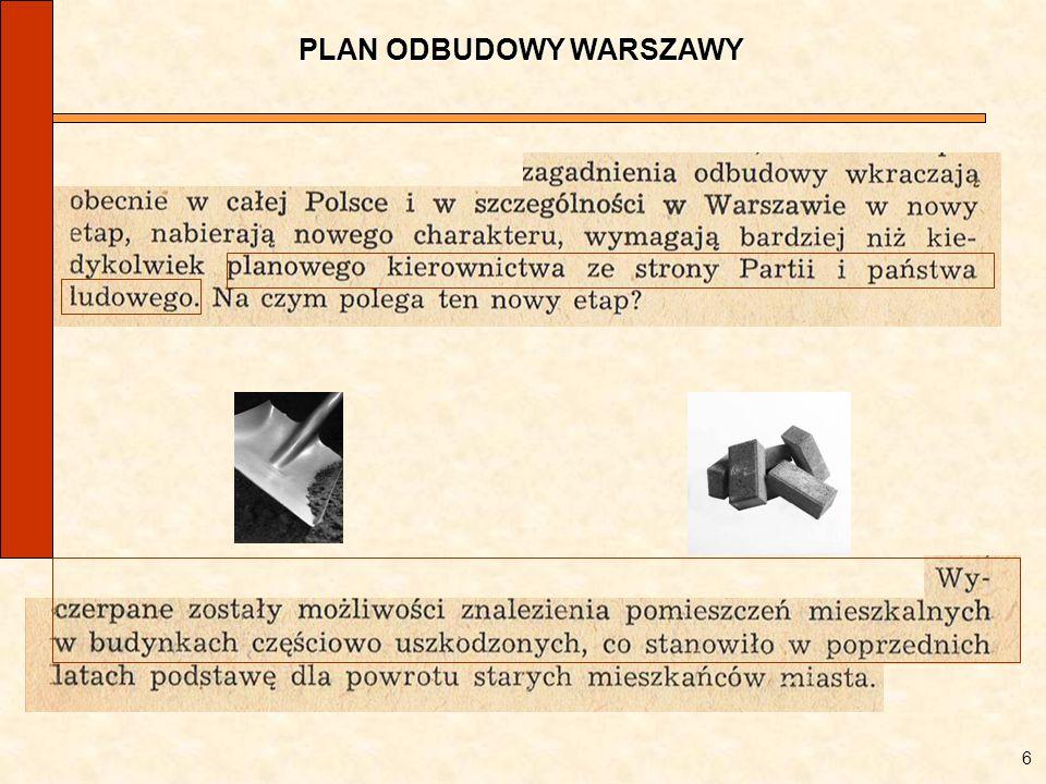 PLAN ODBUDOWY WARSZAWY 6