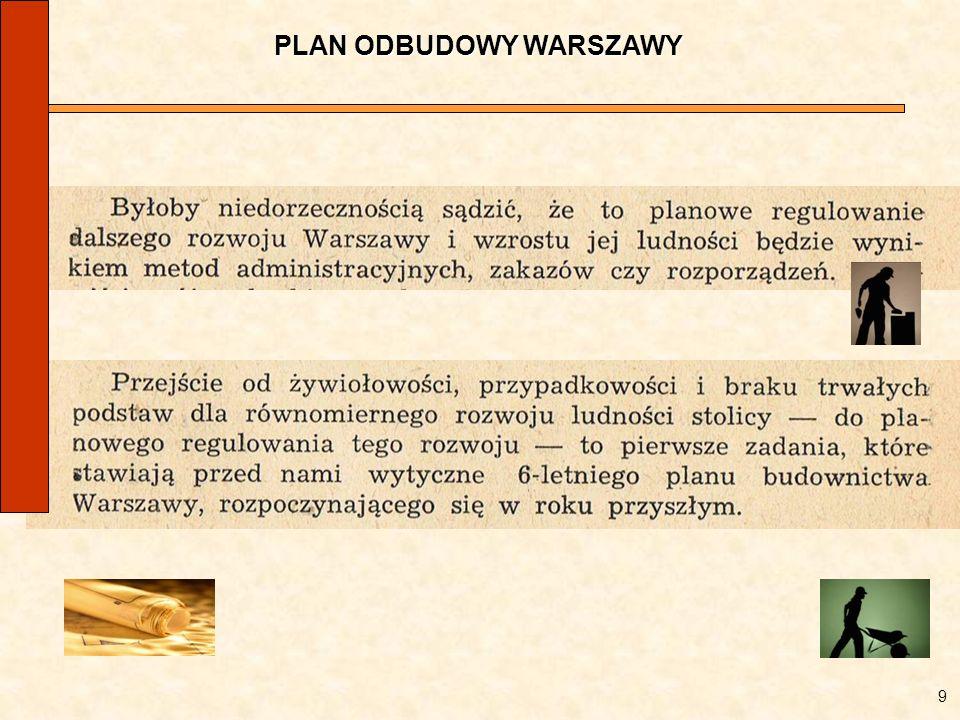 PLAN ODBUDOWY WARSZAWY 9