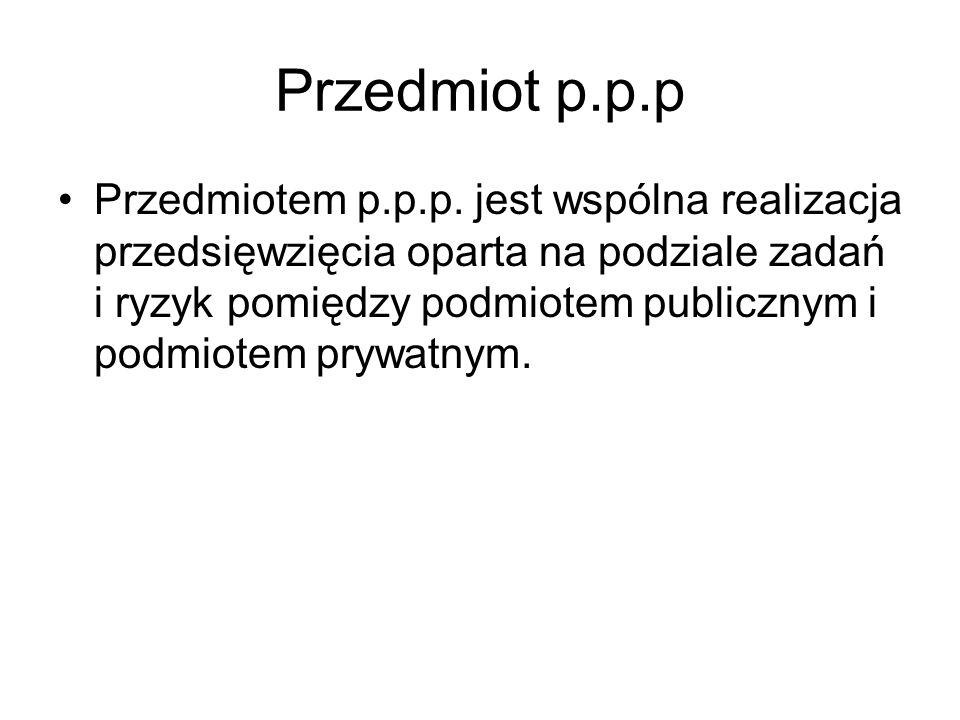 Przedmiot p.p.p Przedmiotem p.p.p.