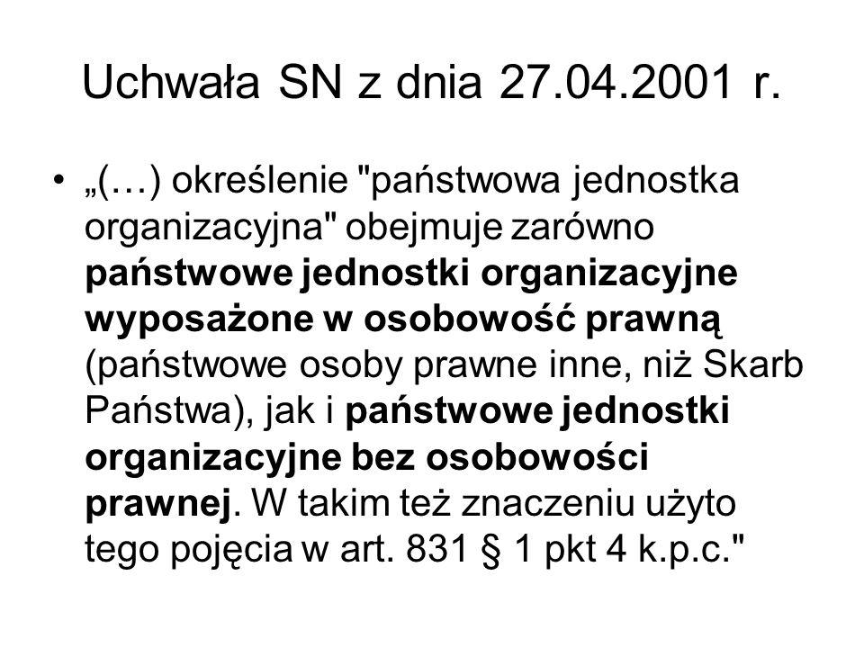 Uchwała SN z dnia 27.04.2001 r. (…) określenie