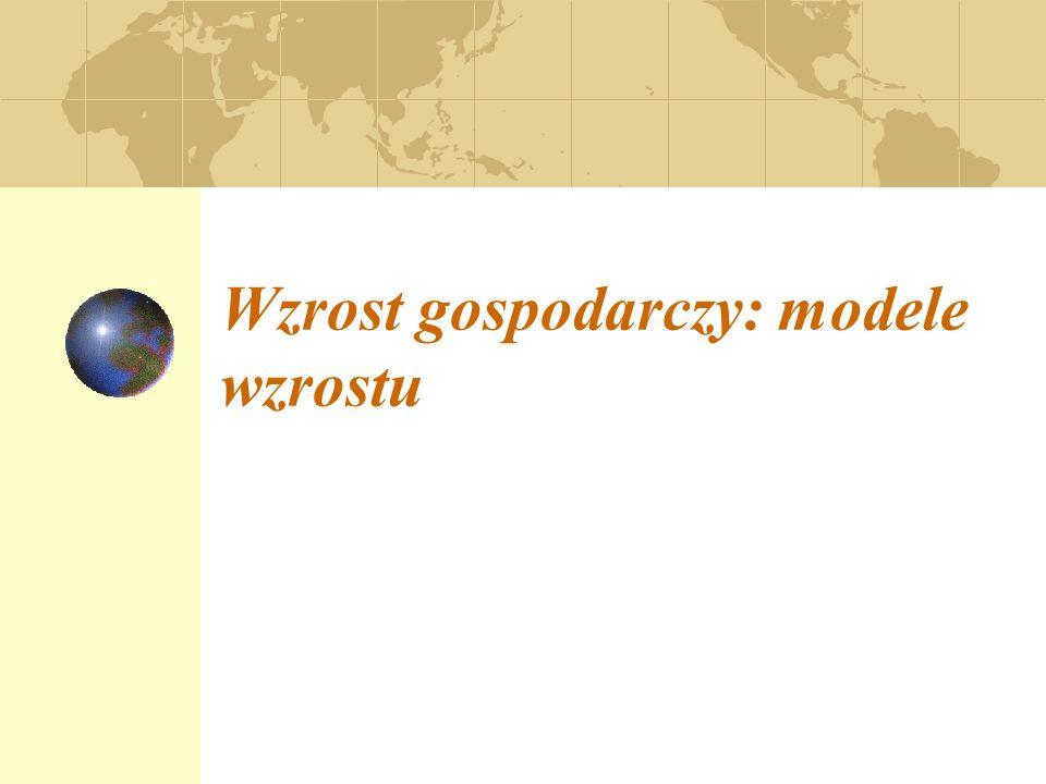 Wzrost gospodarczy: fakty.Akumulacja kapitału: model Solowa.