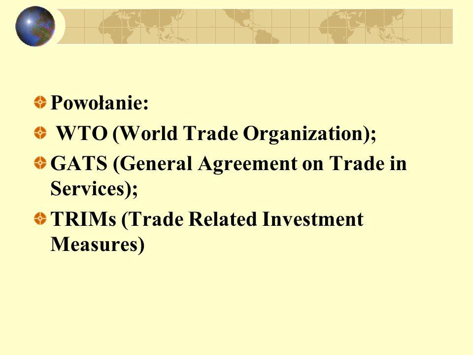 Integracja regionalna Formy integracji regionalnej: strefa wolnego handlu; unia celna; wspólny rynek; unia walutowa i ekonomiczna.