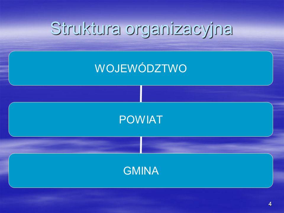 4 Struktura organizacyjna WOJEWÓDZTWO POWIAT GMINA