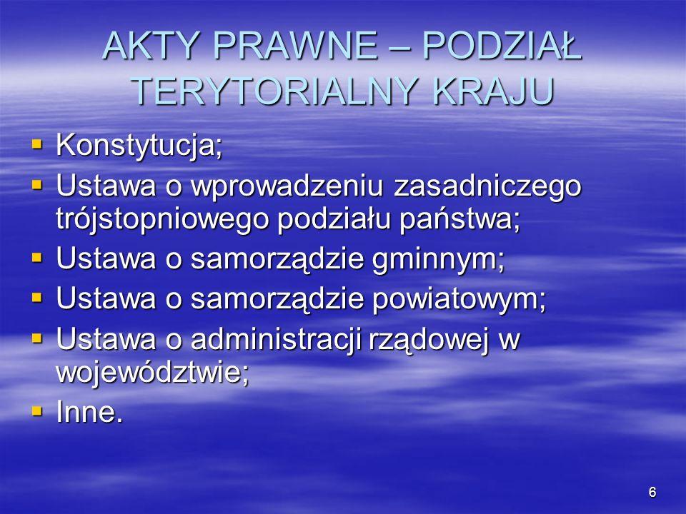 7 Konstytucja Art.15 Art. 15 1. Ustrój terytorialny RP zapewnia decentralizację władzy publicznej.