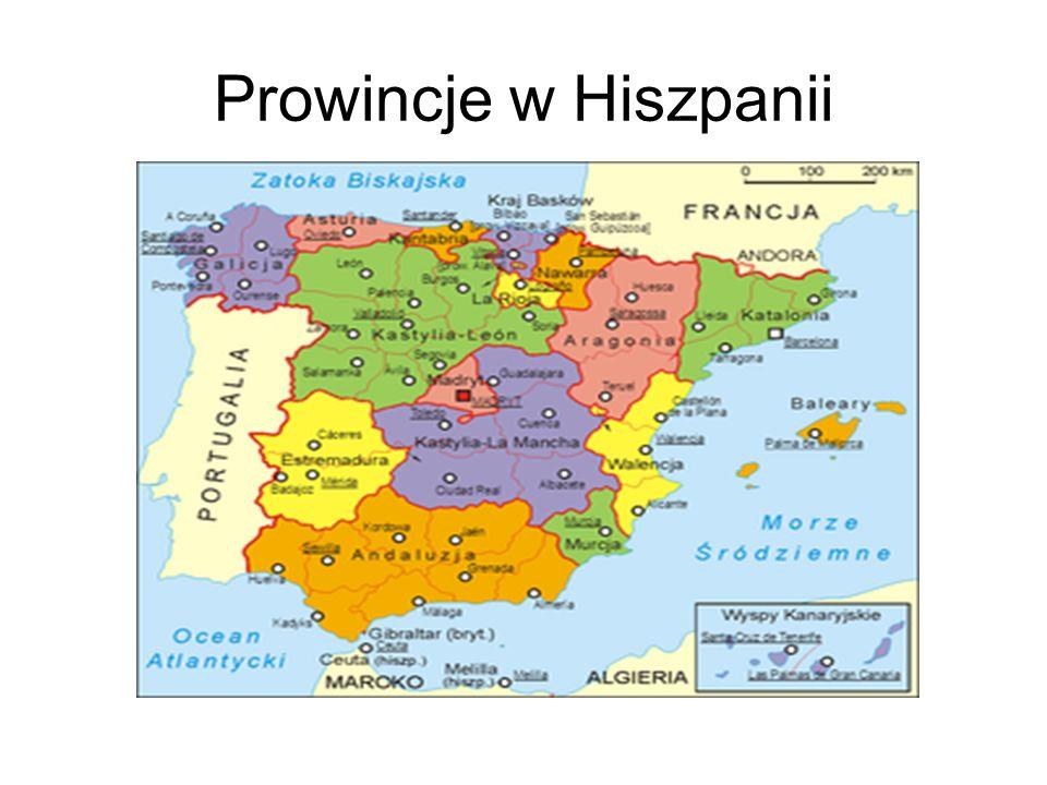 Prowincje w Hiszpanii