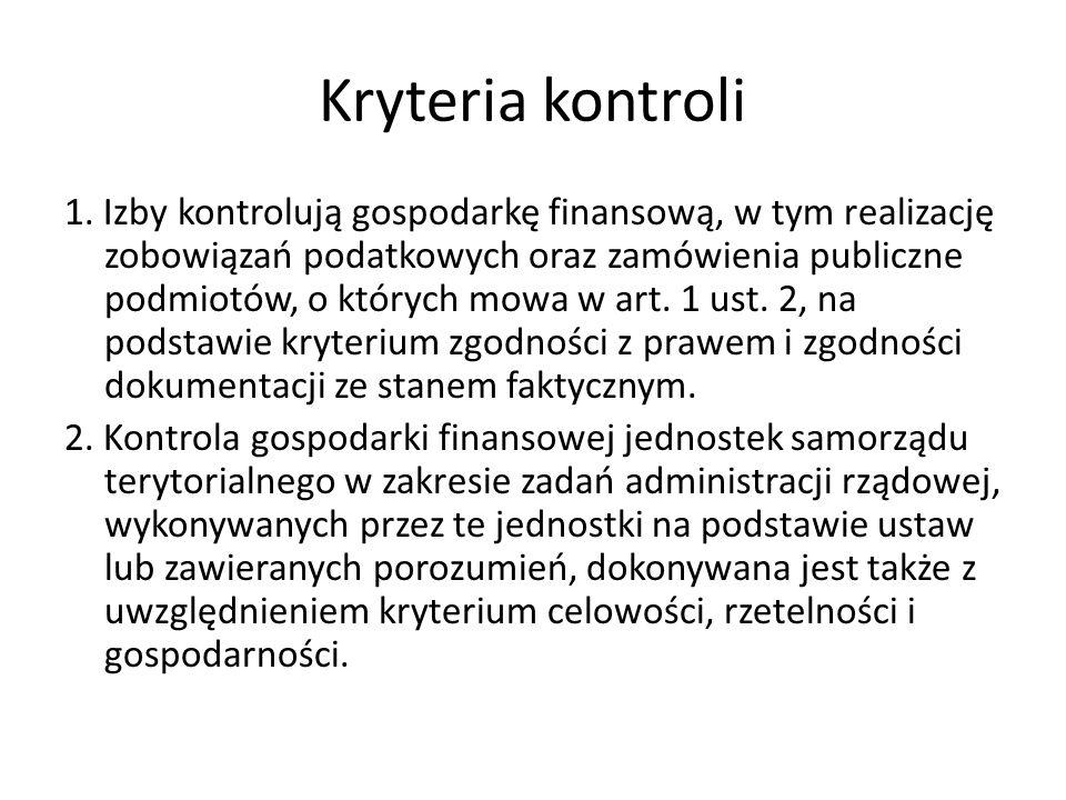 Kryteria kontroli 1.