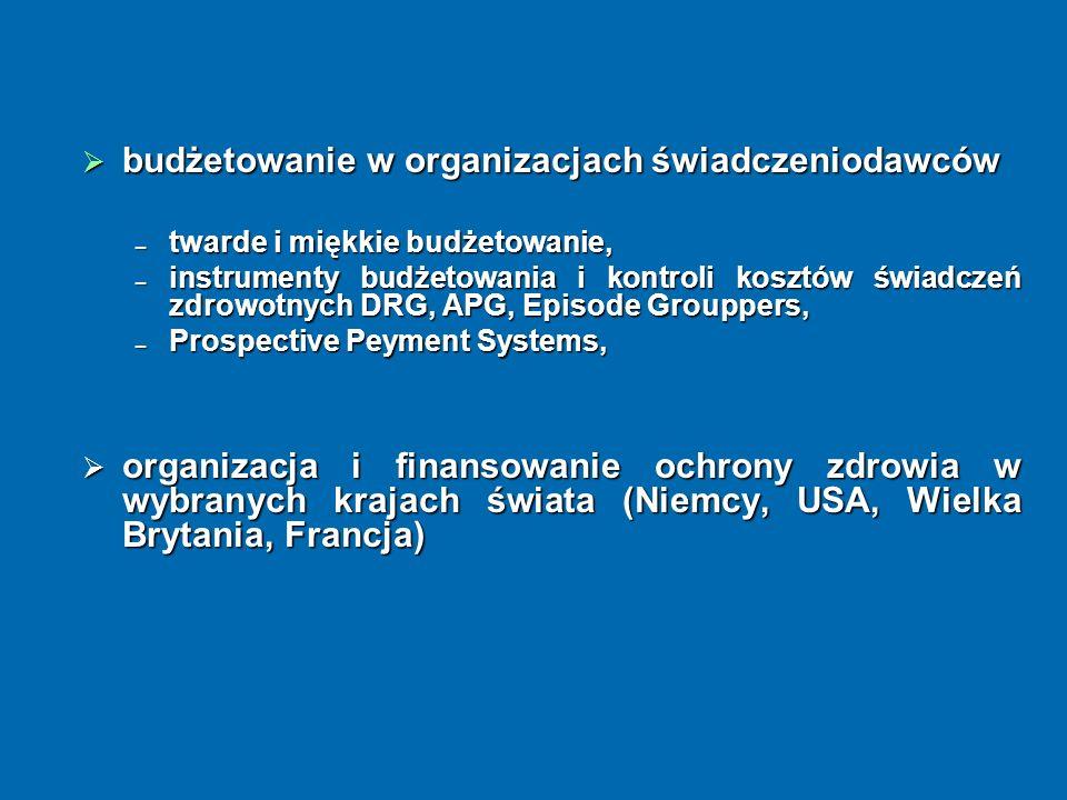 budżetowanie w organizacjach świadczeniodawców budżetowanie w organizacjach świadczeniodawców twarde i miękkie budżetowanie, twarde i miękkie budżetow
