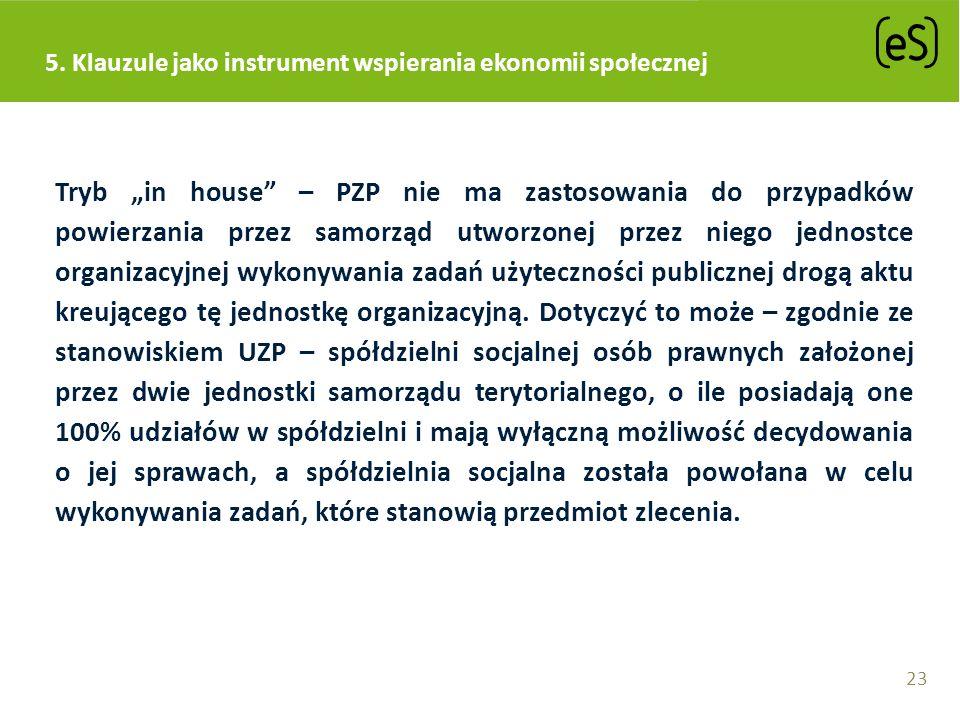 Tryb in house – PZP nie ma zastosowania do przypadków powierzania przez samorząd utworzonej przez niego jednostce organizacyjnej wykonywania zadań uży