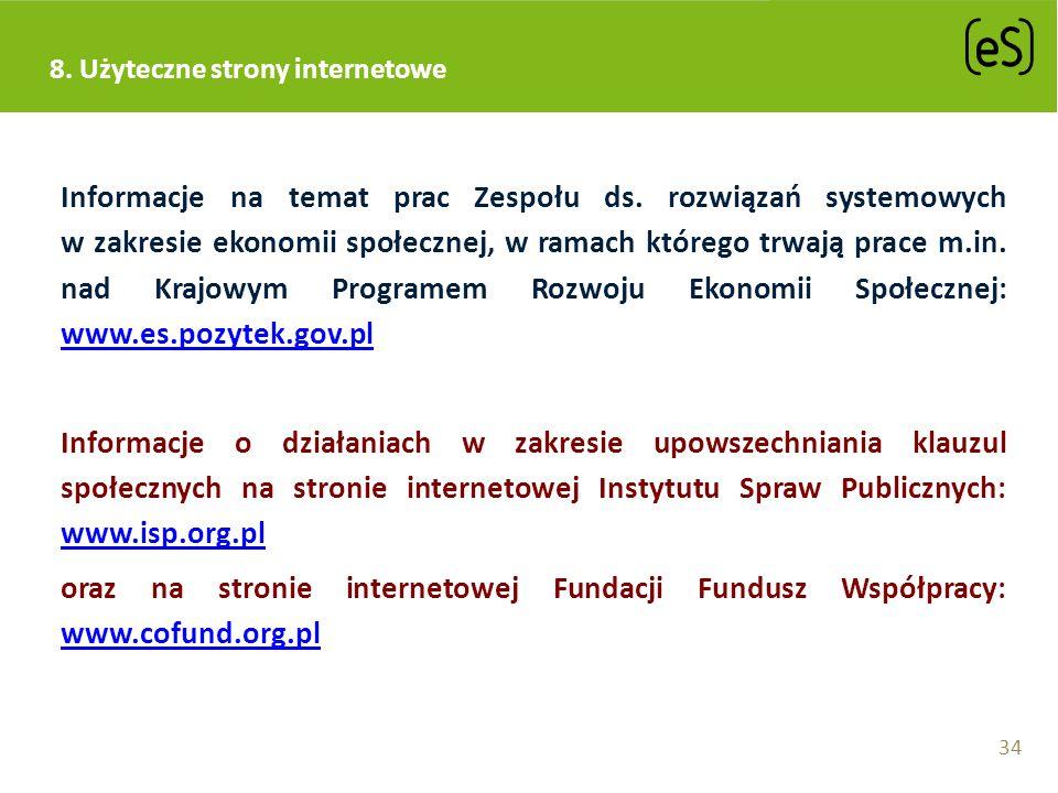 Informacje na temat prac Zespołu ds. rozwiązań systemowych w zakresie ekonomii społecznej, w ramach którego trwają prace m.in. nad Krajowym Programem