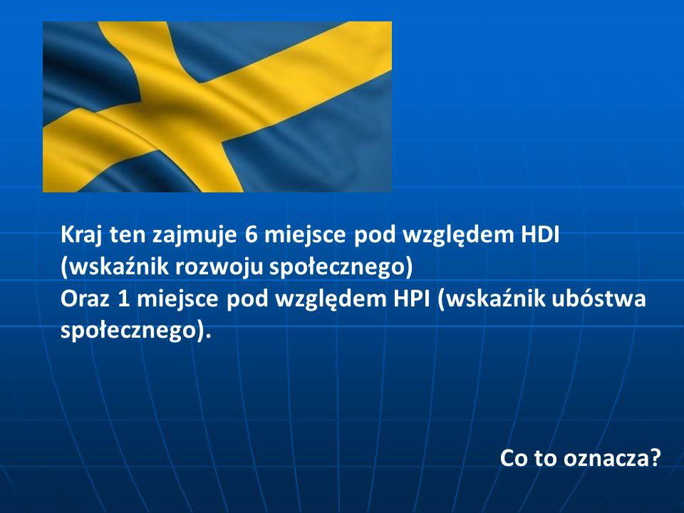 Kraj ten zajmuje 6 miejsce pod względem HDI (wskaźnik rozwoju społecznego) Oraz 1 miejsce pod względem HPI (wskaźnik ubóstwa społecznego). Co to oznac