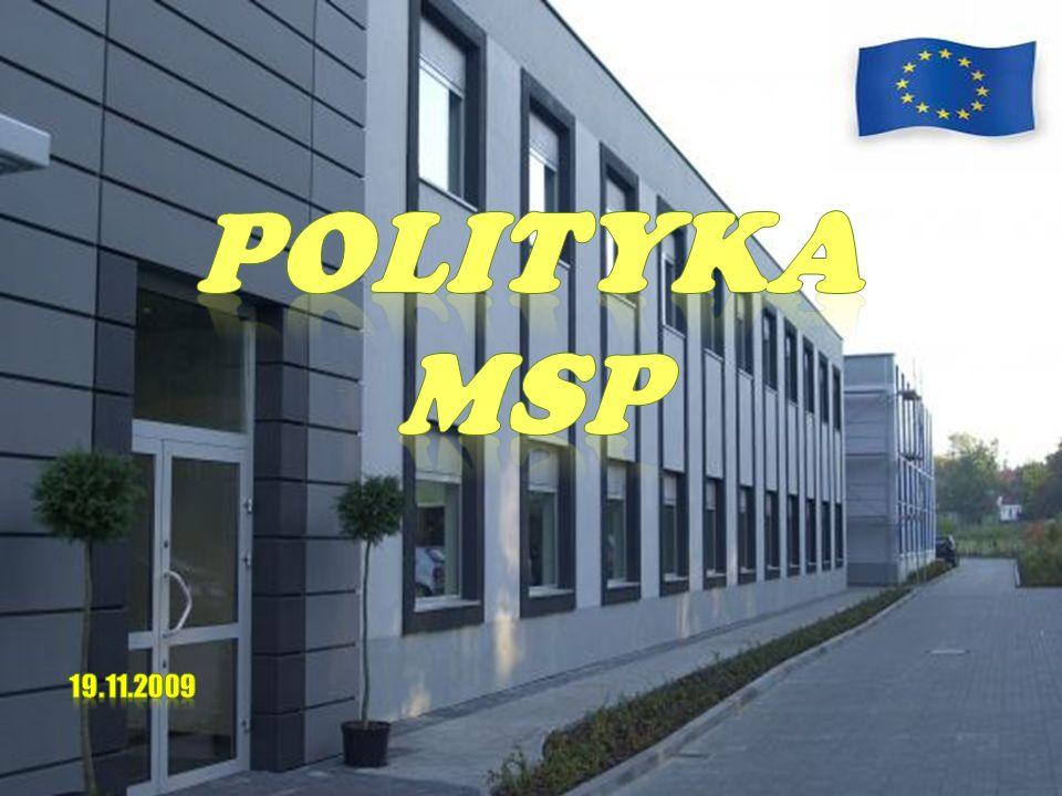 SPIS TREŚCI : I.MAŁE ŚREDNIE PRZEDSIĘBIORSTWA Definicja MSP Kryteria podziału Ogólna liczba MSP w latach 2001-2004 MSP na świecie – USA, Wielka Brytania, Czechy Główne cele i podstawy unijnej polityki wobec MSP EKMP- kierunki działania EKMP Program Wieloletni i jego cele II.