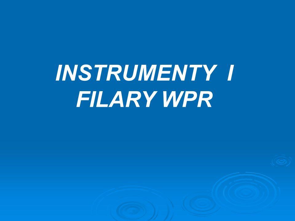 INSTRUMENTY I FILARY WPR