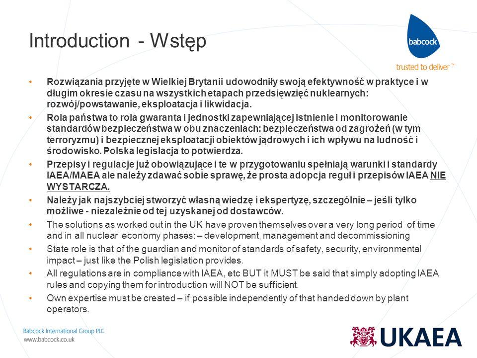 Introduction - Wstęp Rozwiązania przyjęte w Wielkiej Brytanii udowodniły swoją efektywność w praktyce i w długim okresie czasu na wszystkich etapach p