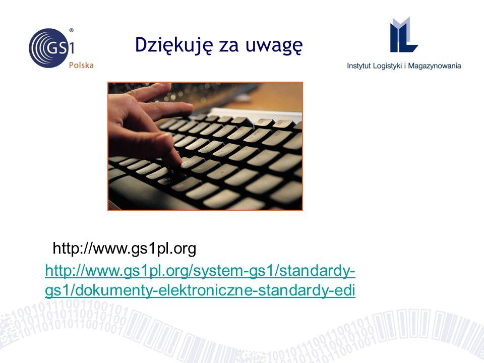 Dziękuję za uwagę http://www.gs1pl.org http://www.gs1pl.org/system-gs1/standardy- gs1/dokumenty-elektroniczne-standardy-edi