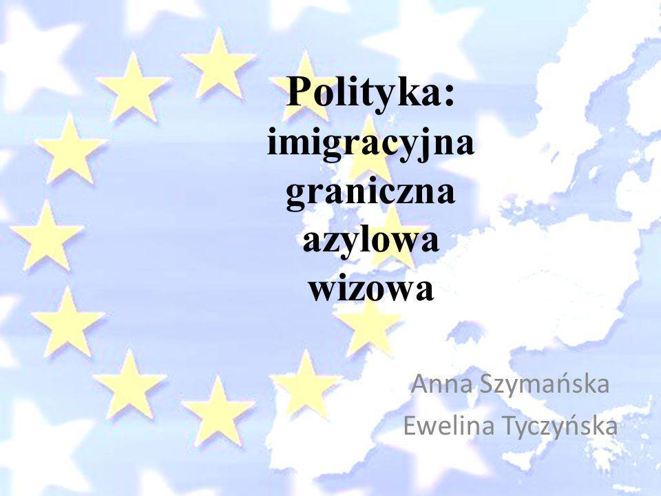 Polityka: imigracyjna graniczna azylowa wizowa Anna Szymańska Ewelina Tyczyńska