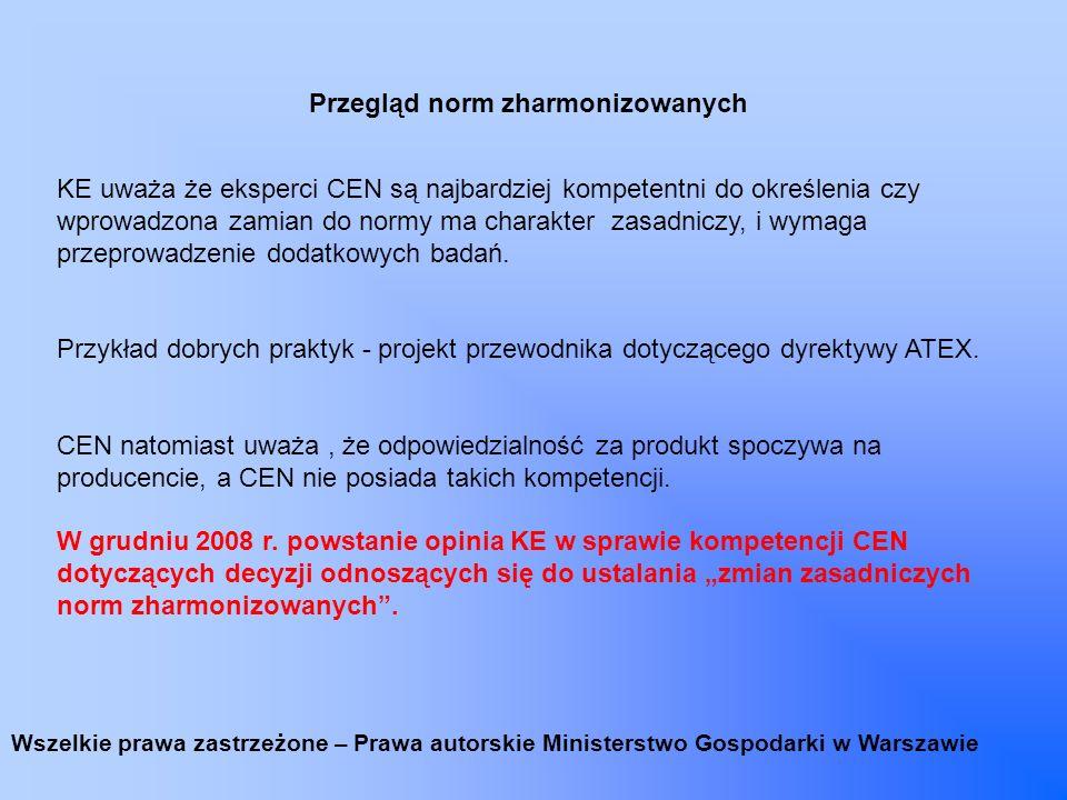 Publikacja przewodnika PPE Zaktualizowana wersja przewodnika, zawierająca ostatnio wprowadzone zmiany została opublikowana na stronach KE (EUROPA asap.) Wszelkie prawa zastrzeżone – Prawa autorskie Ministerstwo Gospodarki w Warszawie