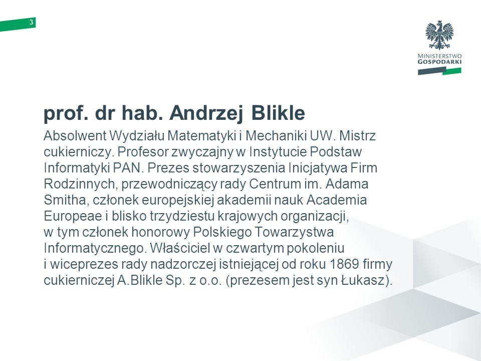 3 prof. dr hab. Andrzej Blikle Absolwent Wydziału Matematyki i Mechaniki UW. Mistrz cukierniczy. Profesor zwyczajny w Instytucie Podstaw Informatyki P