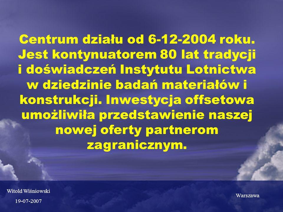 Centrum działu od 6-12-2004 roku.
