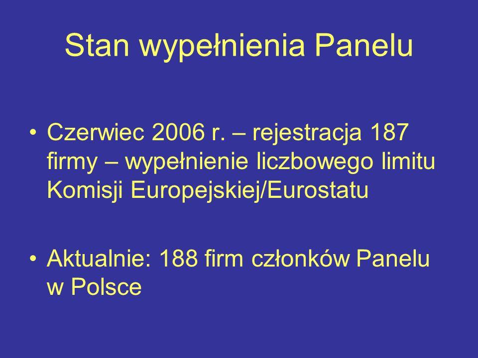 Stan wypełnienia Panelu Czerwiec 2006 r.
