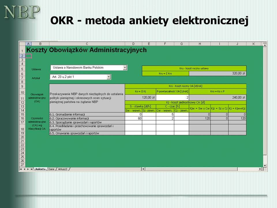 OKR - metoda ankiety elektronicznej