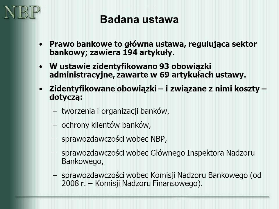 Badana ustawa Prawo bankowe to główna ustawa, regulująca sektor bankowy; zawiera 194 artykuły.