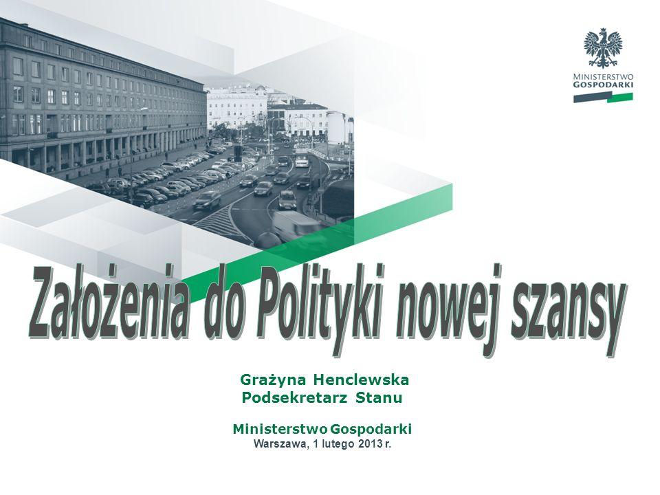 Grażyna Henclewska Podsekretarz Stanu Ministerstwo Gospodarki Warszawa, 1 lutego 2013 r.