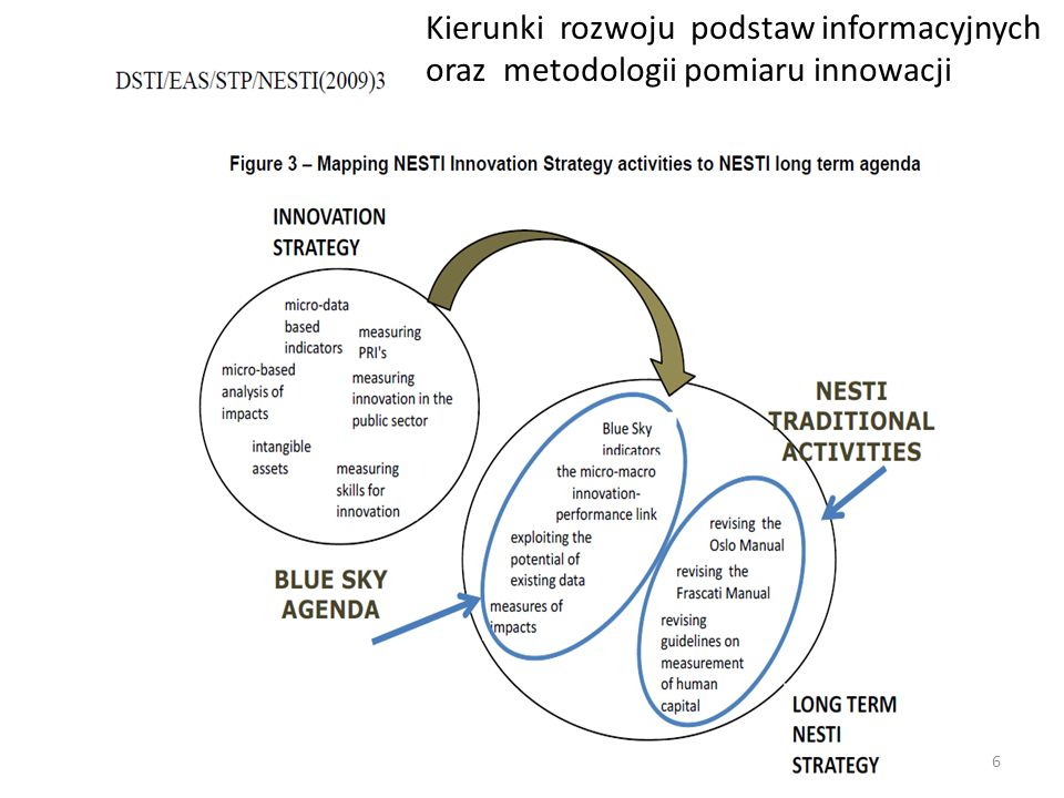 Kierunki rozwoju podstaw informacyjnych oraz metodologii pomiaru innowacji 6