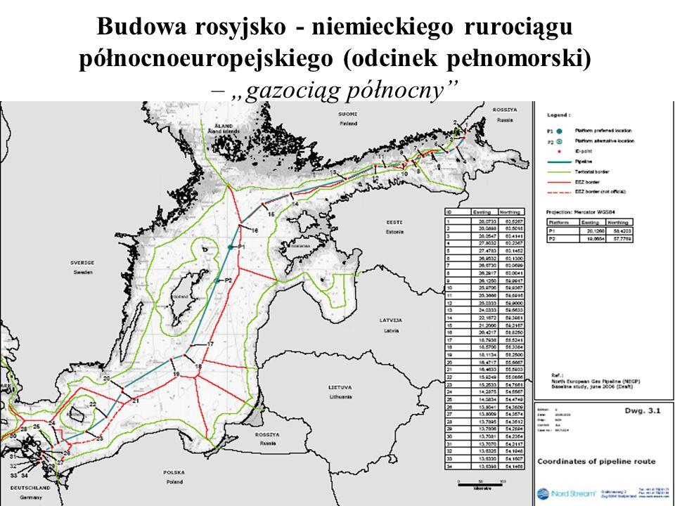 Budowa rosyjsko - niemieckiego rurociągu północnoeuropejskiego (odcinek pełnomorski) – gazociąg północny