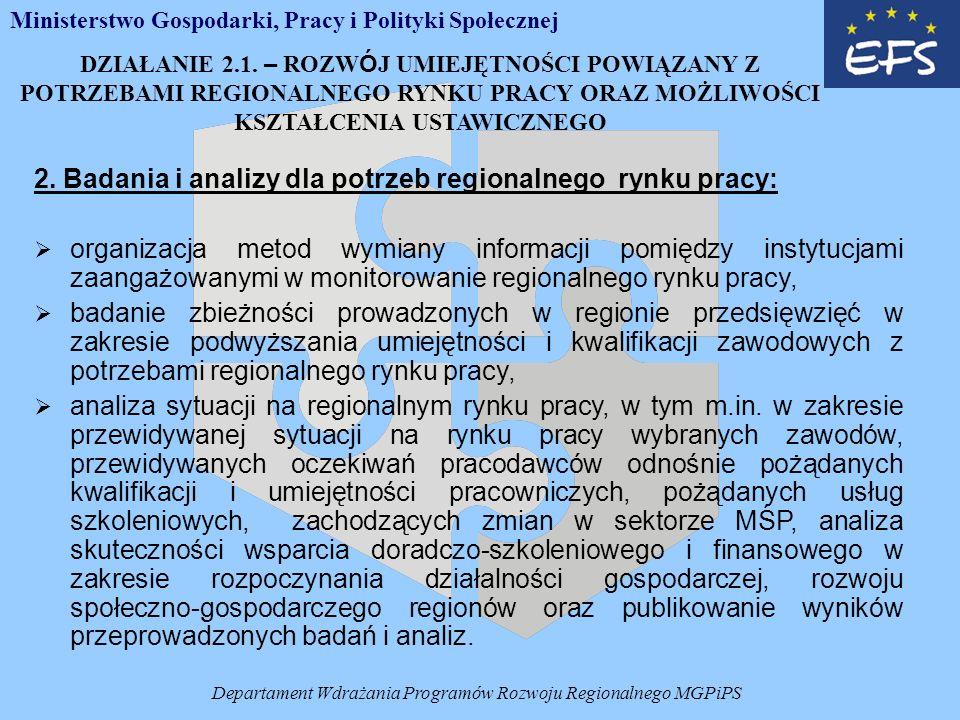 Departament Wdrażania Programów Rozwoju Regionalnego MGPiPS 2.