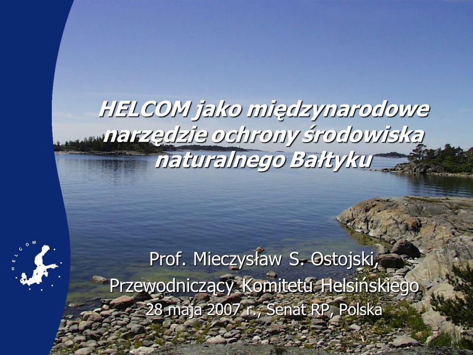 Spis treści Prezentacja HELCOM Najważniejsze problemy w zakresie ochrony środowiska naturalnego Rzetelne naukowe doradztwo koniecznym warunkiem wdrożenia kompleksowego podejścia do ekosystemu Plan działań na rzecz Morza Bałtyckiego Wnioski