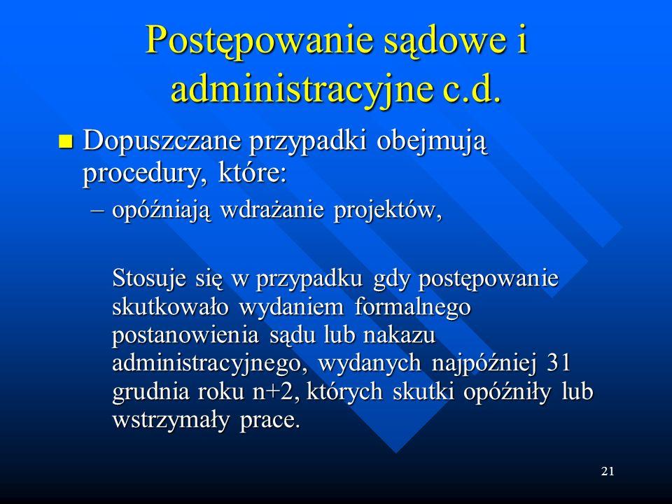 21 Postępowanie sądowe i administracyjne c.d.