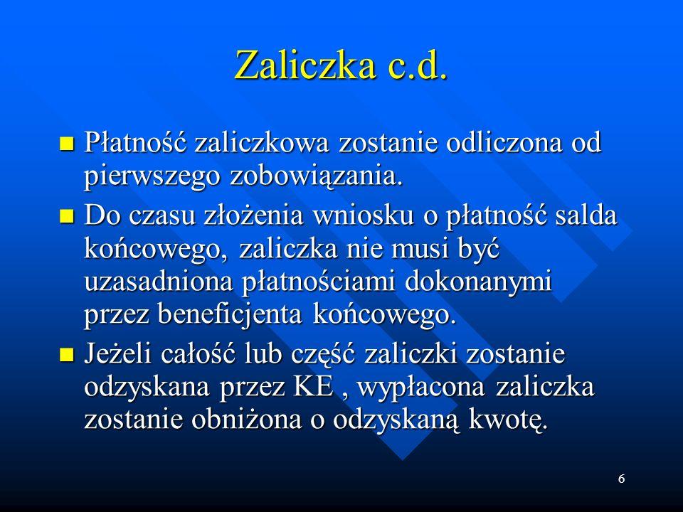 27 Procedura anulowania c.d.