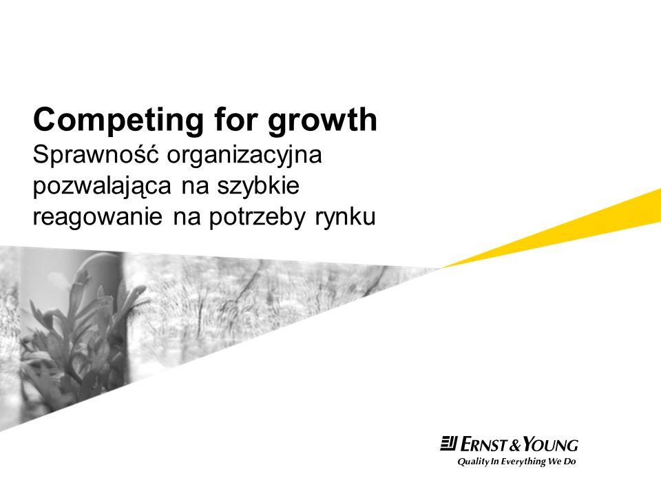 Competing for growth Sprawność organizacyjna pozwalająca na szybkie reagowanie na potrzeby rynku
