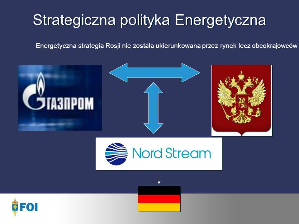 Strategiczna polityka Energetyczna Energetyczna strategia Rosji nie została ukierunkowana przez rynek lecz obcokrajowców
