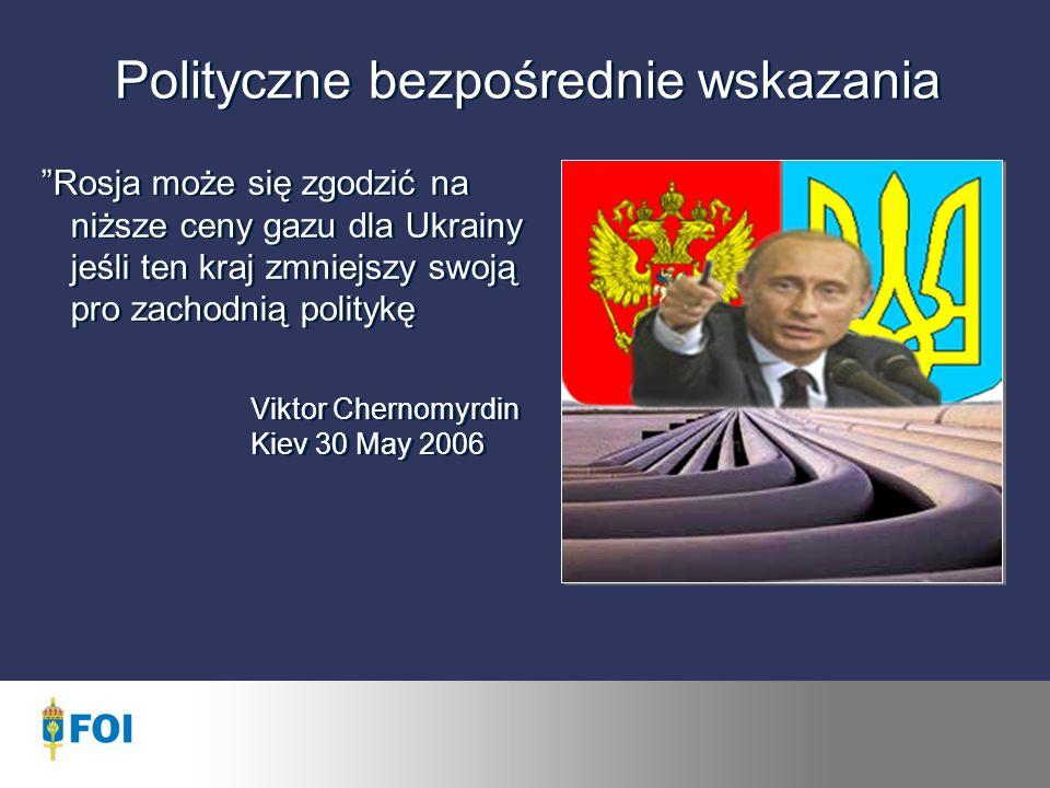 Polityczne bezpośrednie wskazania Rosja może się zgodzić na niższe ceny gazu dla Ukrainy jeśli ten kraj zmniejszy swoją pro zachodnią politykę Viktor Chernomyrdin Kiev 30 May 2006 Rosja może się zgodzić na niższe ceny gazu dla Ukrainy jeśli ten kraj zmniejszy swoją pro zachodnią politykę Viktor Chernomyrdin Kiev 30 May 2006
