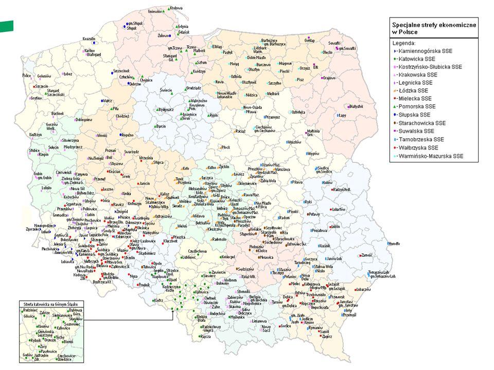 44 Specjalne strefy ekonomiczne Efekty na koniec 2012 r.