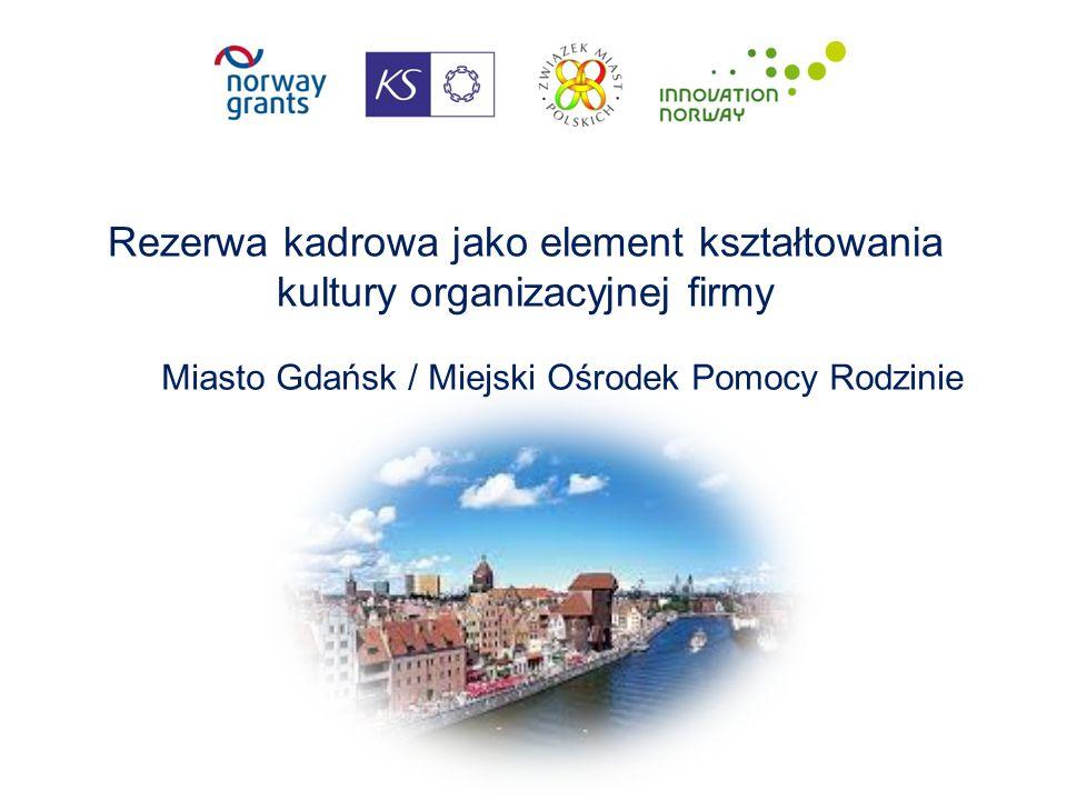 Rezerwa kadrowa jako element kształtowania kultury organizacyjnej firmy Miasto Gdańsk / Miejski Ośrodek Pomocy Rodzinie