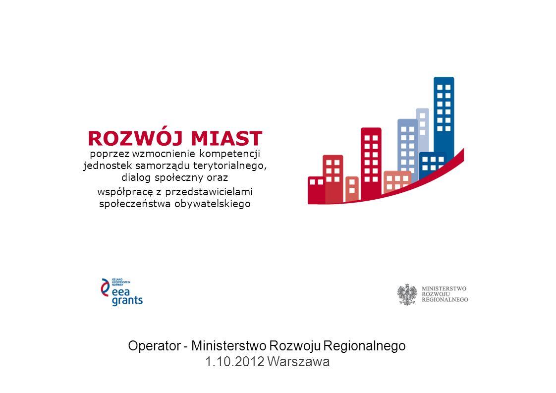 012 Fundusz Współpracy Dwustronnej – podstawowe informacje Dostępne środki 1,5% całkowitych kosztów kwalifikowalnych Programu co równa się kwocie 168 432 euro, pojedyncza refundacja nie powinna przekroczyć kwoty 6 000 euro, poziom dofinansowania w ramach FWD uzależniony od przyznania dofinansowania na realizacje projektu w naborze otwartym: – dofinansowanie projektu przyznane: maksymalnie 100% kosztów poniesionych przez wnioskodawcę i/lub partnera; – brak dofinansowania projektu: maksymalnie 50% kosztów poniesionych przez wnioskodawcę i/lub partnera.