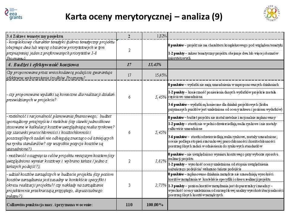Karta oceny merytorycznej – analiza (9)