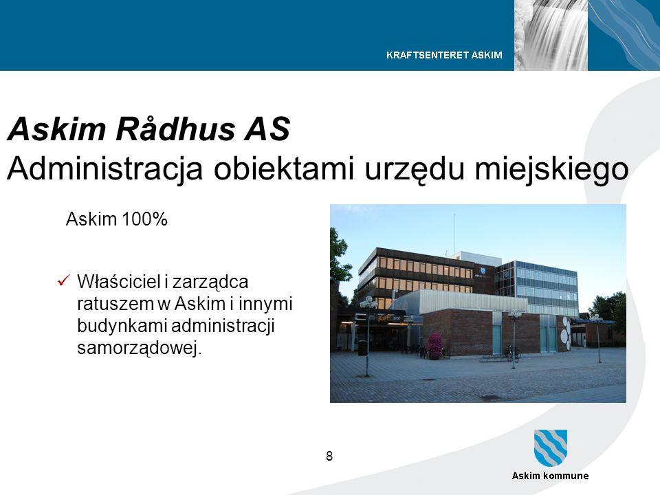 8 Askim Rådhus AS Administracja obiektami urzędu miejskiego Askim 100% Właściciel i zarządca ratuszem w Askim i innymi budynkami administracji samorzą