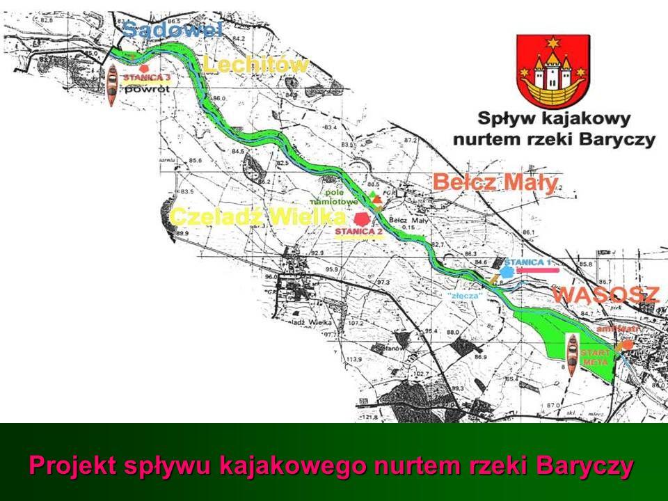 Projekt spływu kajakowego nurtem rzeki Baryczy