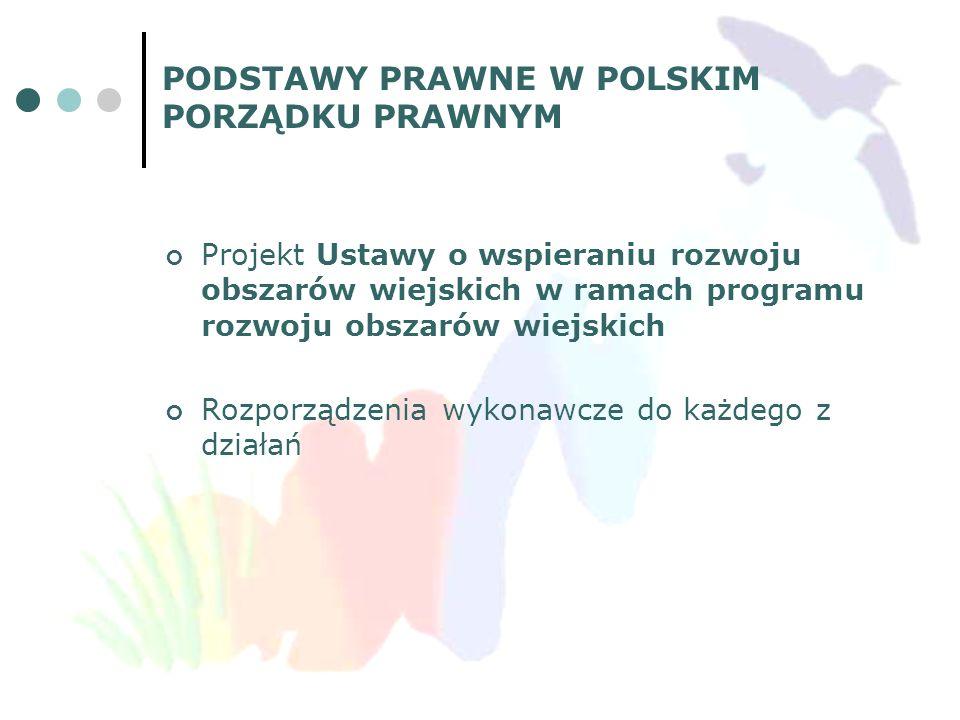 DOKUMENTY KRAJOWE, OKREŚLAJĄCE ZAŁOŻENIA DLA WSPARCIA ROZWOJU OBSZARÓW WIEJSKICH z Europejskiego Funduszu Rolnego na rzecz Rozwoju Obszarów Wiejskich (EFRROW) Krajowy Plan Strategiczny (KPS)– jest on wdrażany w krajach UE poprzez programy rozwoju obszarów wiejskich Program Rozwoju Obszarów Wiejskich na lata 2007-2013 (PROW 2007-2013) dokument programowy