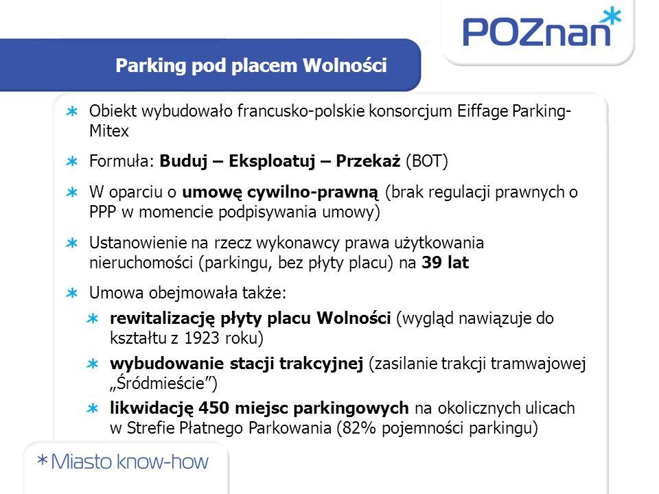 Harmonogram realizacji: 2000 – zaproszenie do składania ofert 2000-2001 – dwuetapowy konkurs ofert, negocjacje Wybrani partnerzy: Budimex Poznań Developer Sp.