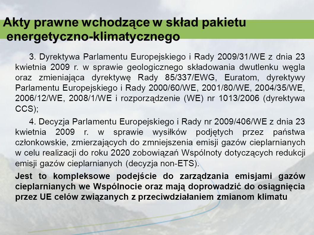 Prace implementacyjne Ustawa z dnia 22 grudnia 2004 r.